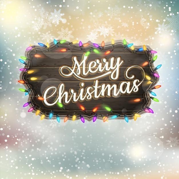 クリスマスの挨拶書道-ビンテージ看板。