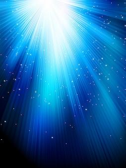 青の縞模様の背景の星。冬やクリスマスのテーマに最適なお祝いパターン。含まれるファイル
