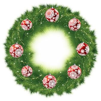 クリスマスツリーの装飾。