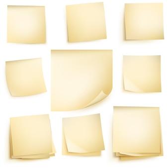 分離された紙のノート。