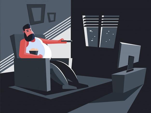 Сидеть дома и смотреть телевизор
