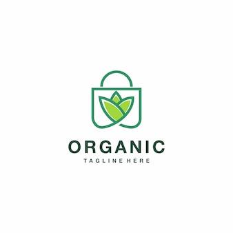 Зеленая сумка природы логотип вдохновения