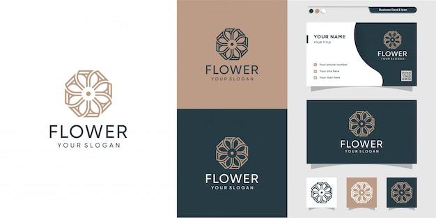 Современный цветочный логотип и дизайн визитной карточки. салон красоты, мода, салон, визитка, икона, премиум