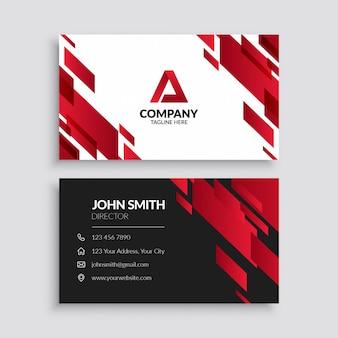 Красный абстрактный геометрический шаблон визитной карточки