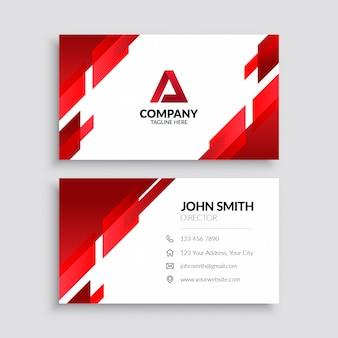 Красный абстрактный шаблон визитной карточки