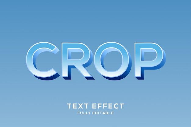 Свежий красочный синий текстовый эффект