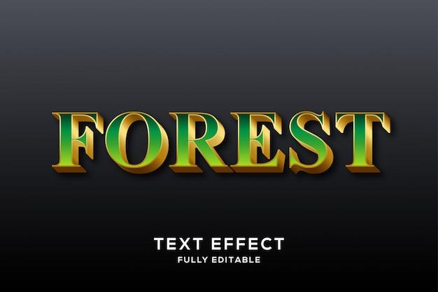 Роскошный зелено-золотой текстовый эффект