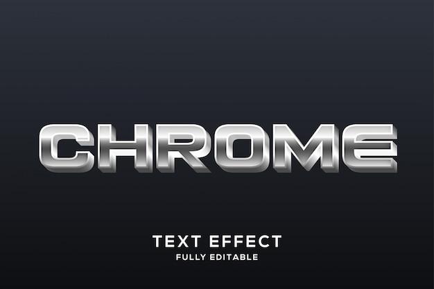 Современный серебряный хром текстовый эффект