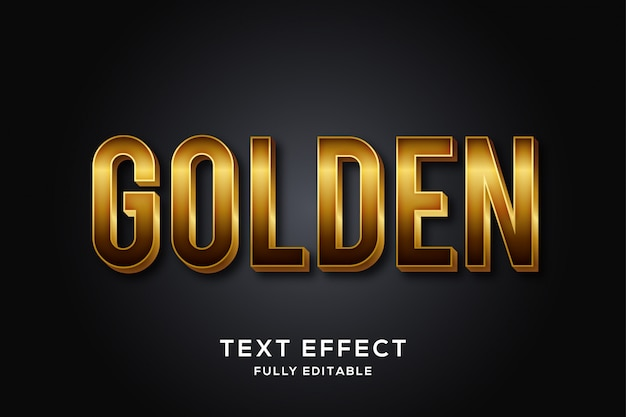 大胆で豪華なゴールドのテキスト効果