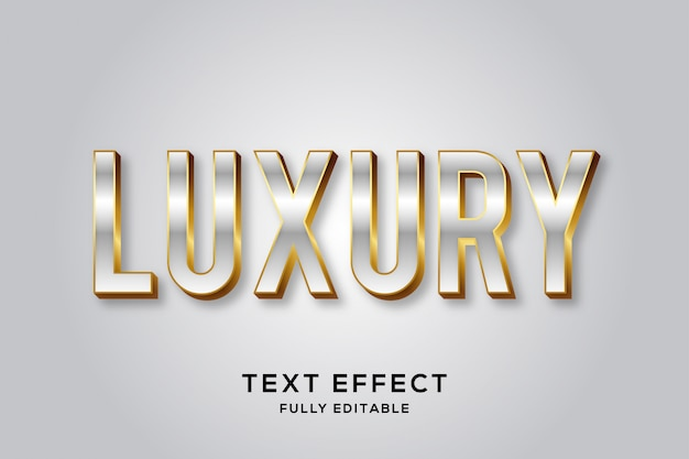 Элитный текстовый эффект премиум-класса из серебра и золота