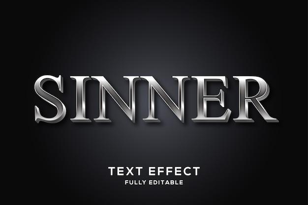 Роскошный темный серебряный текстовый эффект