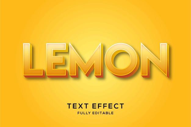 モダンな大胆なレモンのテキスト効果