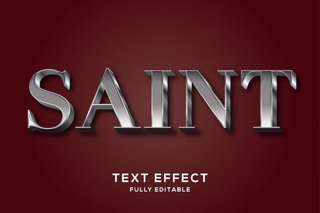 Современный роскошный серебряный редактируемый текстовый эффект