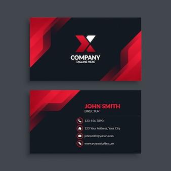 抽象的な現代的な赤のビジネスカード