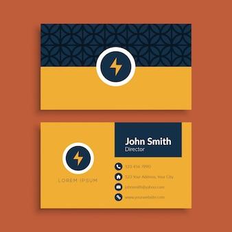 Минимальная визитная карточка с геометрическим рисунком шаблона
