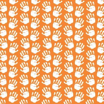 手はパターンの背景を印刷する
