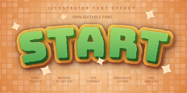 Старый игровой редактируемый текстовый шрифт