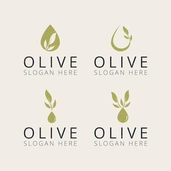 Профессиональный оливковый логотип дизайн шаблона