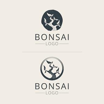 Шаблон логотипа бонсай