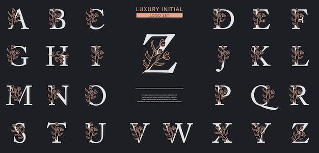Шаблон логотипа с цветочным буквицей