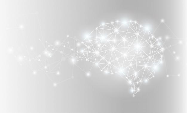 Светящийся мозг сети фон