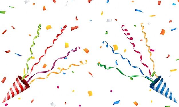 Взрывающаяся вечеринка поппер с конфетти и серпантином