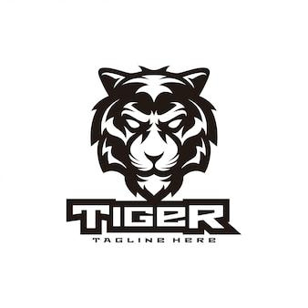 虎イラストマスコットロゴ