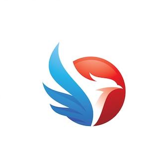 鳥と羽のロゴ