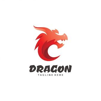 ドラゴンヘビモンスターマスコットロゴ