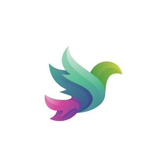 Крыло птицы в стиле градиента