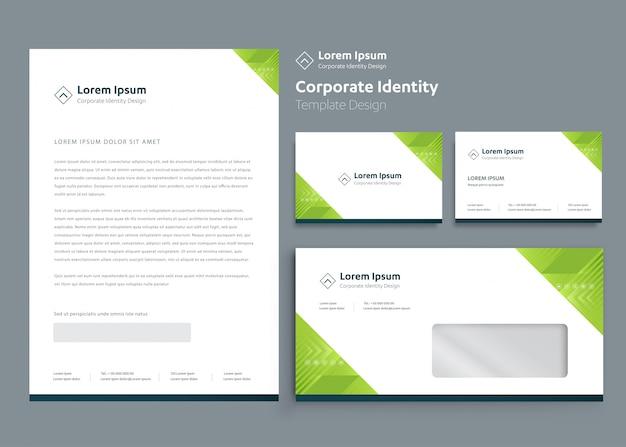 Классический канцелярский бизнес фирменный стиль дизайн шаблона