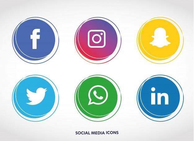 Набор значков в социальных сетях