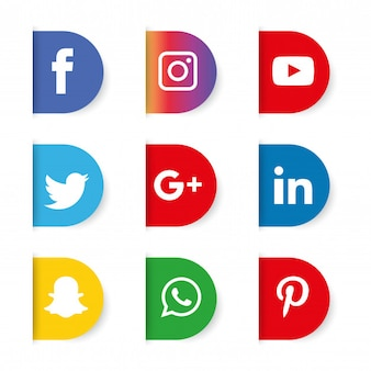 ソーシャルメディアアイコンが設定されます。ロゴ