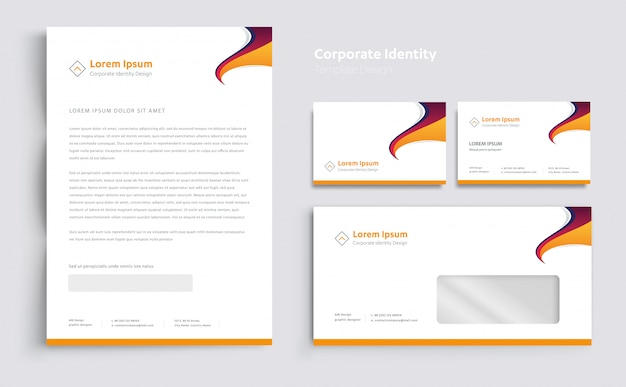 コーポレートビジネスアイデンティティのテンプレートデザインベクトル