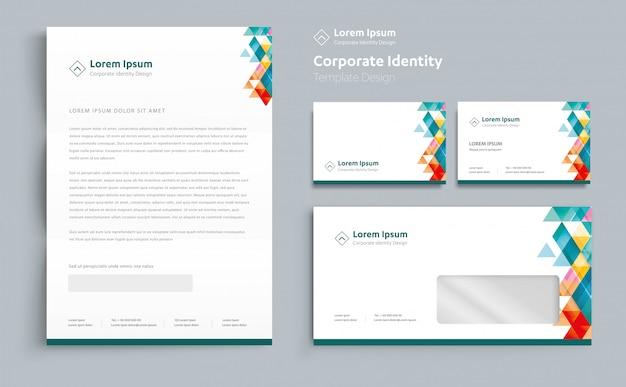 コーポレートビジネスアイデンティティのテンプレートデザイン