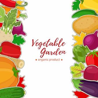 Овощной фон для ваучера