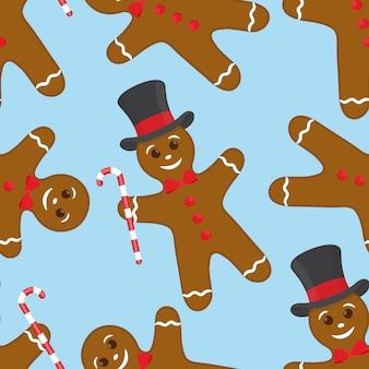 ジンジャーブレッドクッキーとシームレスなパターン