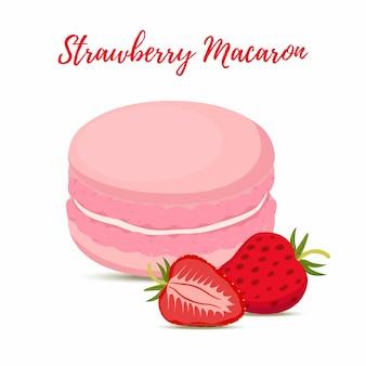 ストロベリーマカロンメレンゲクリーム