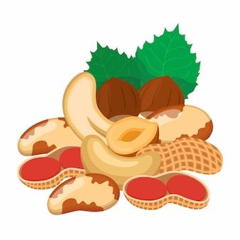 Набор разных орехов