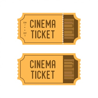 Билеты в кино в мультяшном стиле ретро