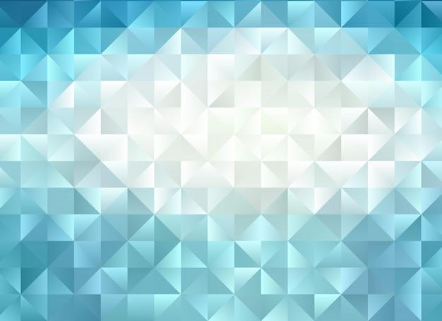 多色の青い幾何学的なしわくちゃの三角形の低ポリスタイルグラデーショングラフィックの背景。