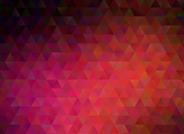 多色の暗い赤の幾何学的なしわくちゃ三角形低ポリスタイルグラデーショングラフィックの背景。