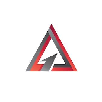三角矢印ロゴベクトル