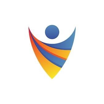 人のロゴのベクトル