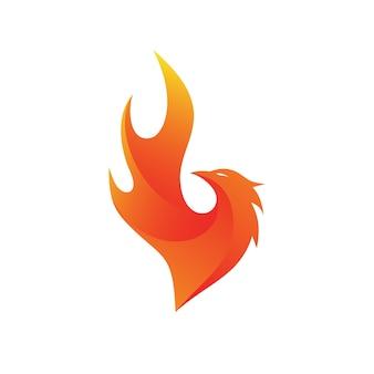 Феникс огонь логотип вектор