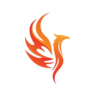 Феникс логотип вектор