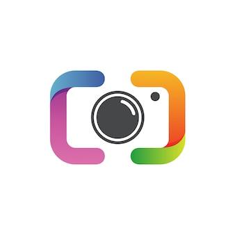 写真のロゴのベクトル
