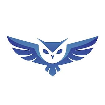 フクロウのロゴのベクトル