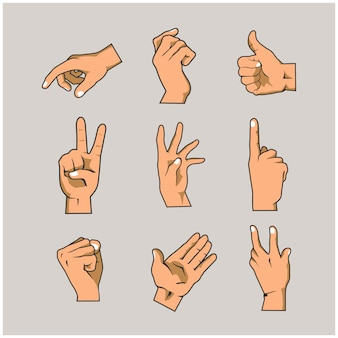 Коллекции рук и пальцев