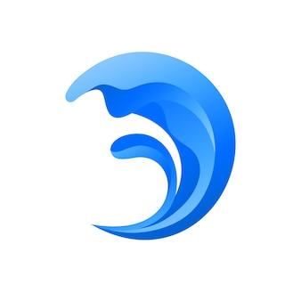 ウェーブ抽象ロゴ